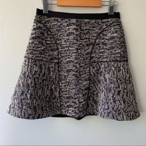 Rebecca Taylor Tweed A-Line Mini Skirt